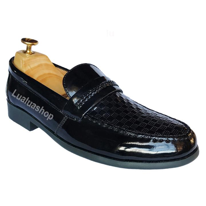 Giày lười da bóng L35