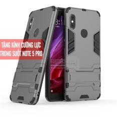 [7 màu] Ốp lưng dùng cho máy Xiaomi Redmi Note 5 / Note 5 Pro iRON – MAN Nhựa PC cứng viền dẻo chống sốc