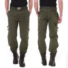 Quần túi hộp nam túi cao cấp – kaki xanh rêu