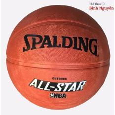 Bóng rổ số 7 Spalding, Wilson cam đất TẶNG KIM BƠM, LƯỚI ĐỰNG