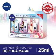 [PHIÊN BẢN GIỚI HẠN] Hộp quà 3 chai lăn khử mùi Magic Nivea 25ml