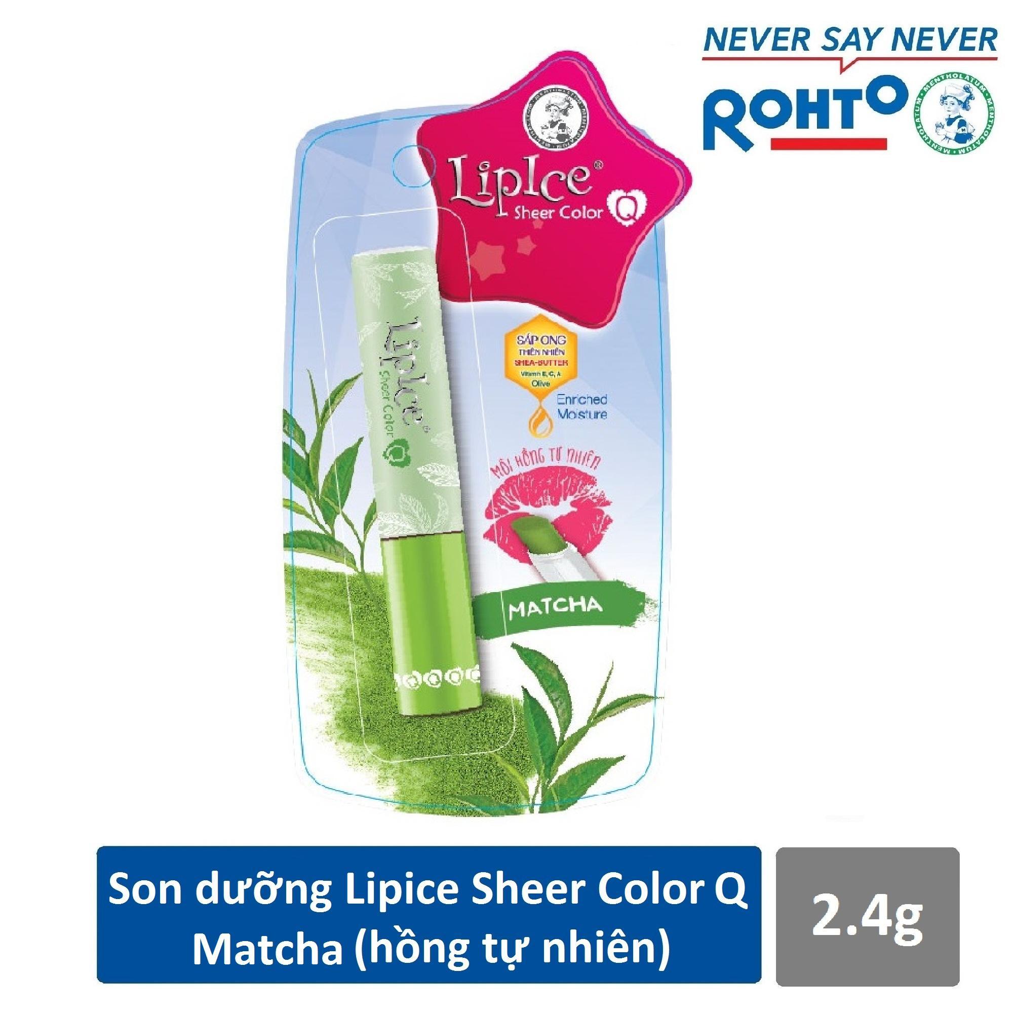 Son dưỡng Lipice Sheer Color Q Matcha 2.4g (Hồng tự nhiên)