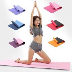 Thảm tập Yoga siêu bền đúc liền 1 lớp cao cấp kích thước 1m73 x 61cm x 3mm ( CÓ TÚI ĐỰNG )