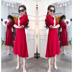 Đầm Váy Nữ Nút Bọc Cổ Điển Thời Trang Trẻ Trung Đường Phố NTD Fashion WM DRESS 800033