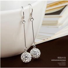 Bông tai nữ thời trang tòn ten trái châu đính đá lấp lánh xinh xắn phong cách Hàn Quốc HHN-030