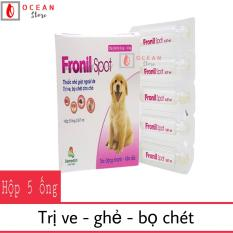 Thuốc nhỏ sống lưng trị ve ghẻ, bọ chét chó mèo – Fronil spot
