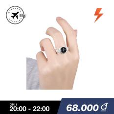 Creative Women 925 Silver Finger Ring Watch Alloy Personality Jewelry Gift – intl