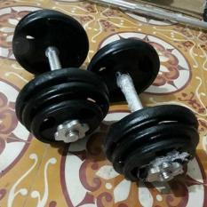 Bộ 2 Tạ tay tháo lắp 20kg ( 4 miếng 5kg, 4 miếng 3kg, 4 miếng 2kg)