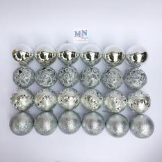 Hộp 24 quả châu 8cm trang trí Giáng sinh – Noel