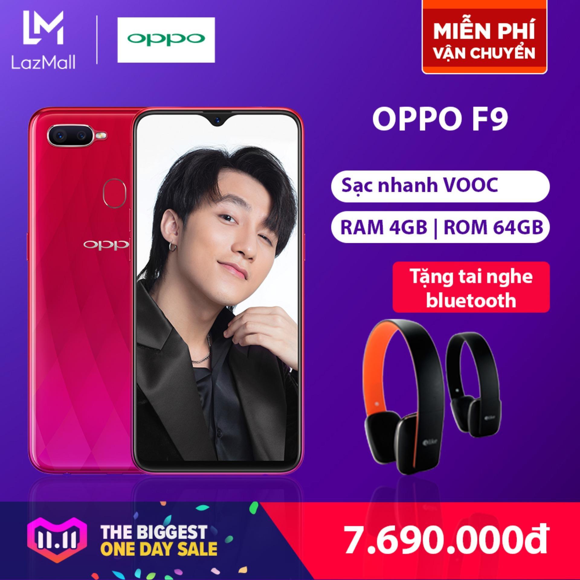 OPPO F9 - Hãng phân phối chính thức - Tặng tai nghe bluetooth