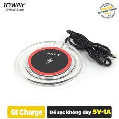 Sạc không dây Joway WXC03 cho iphone 8/8plus, iphone X, Samsung S8/S8+ Note 8 – Hãng phân phối chính thức
