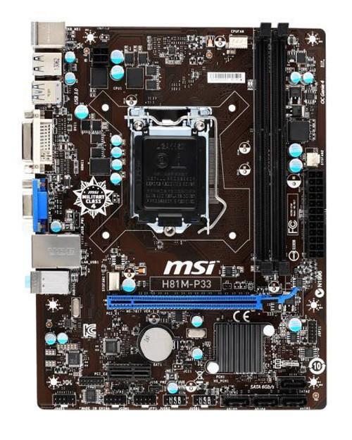 Bảng Giá Main MSI H81 P33 cũ bảo hành 1 tháng Tại ĐIỂN VŨ COMPUTER