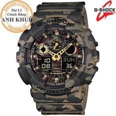 Đồng hồ nam dây nhựa G-SHOCK chính hãng Casio Anh Khuê GA-100CM-5ADR