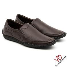 Giày mọi da bò thật màu đen và nâu đỏ KK459
