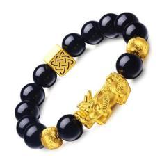 Vòng đeo tay tỳ hưu vàng 13 li – Phong thủy may mắn phát tài + Tặng vòng gỗ