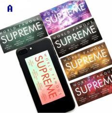 Bộ 6 miếng dán decal bóng Supreme, sticker dán laptop, vali, điện thoại