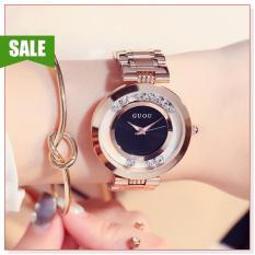 Đồng hồ nữ, đồng hồ nữ GUOU 8039 KL thiết kế đơn giản, sang trọng, phong cách