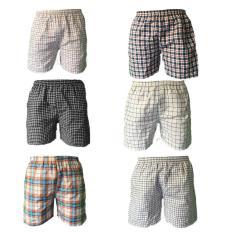 Combo 6 quần đùi nam mặc nhà lưng bo QDN01 – 01 (nhiều màu)
