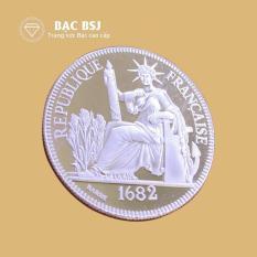 Đồng bạc hoa xòe bạc nguyên chất đường kính 3.8 cm dày 2 mm trọng lượng 7.3 – 7.5 chỉ, đồng bạc đánh gió, đồng bạc đánh cảm, đồng xu cạo gió, đồng bạc hoa xòe cổ, đồng bạc nguyên chất, đồng tiền bạc cạo gió, Bạc BSJ