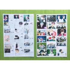 Combo 18 nhãn vở BTS tặng 1 móc khóa in hình BTS