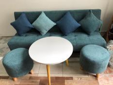 SF – Bộ sofa bed, sofa giường xanh nước biển nhạt