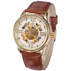 Đồng hồ cơ nam SEWOR dây da cao cấp số la mã cổ điển sang trọng JN-SE1688