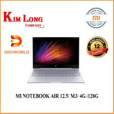 Laptop XIAOMI MI NOTEBOOK AIR 12.5/ M3/ 4G /128G/ BẠC (SILVER) – Digiworld phân phố i
