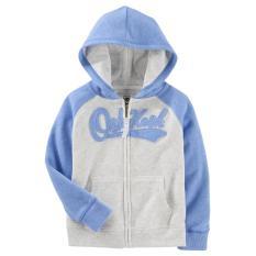 Áo khoác bé gái Oshkosh màu xanh nước biển