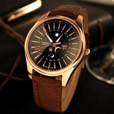 Đồng hồ nam thời trang nam dây da cao cấp Yazole DA05