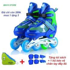 giầy trượt patin phát sáng siêu đẹp,,, tặng full bộ bảo hiểm + tặng thêm 1 túi xách giầy tiện lợi