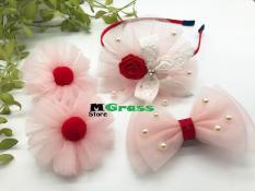 Bộ phụ kiện băng đô voan lưới cực xinh cho bé gái – MG Store