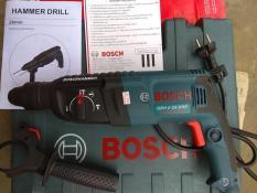 Máy khoan bê tông Bosch GBH 2-26 DRE đủ 3 chức năng khoan gỗ sắt, khoan bê tông và đục bê tông, xuất xứ BOSCH Thái Lan xịn.