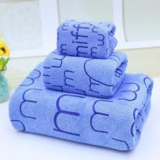 Bộ 3 khăn tắm – khăn mặt – khăn lau (loại lớn 1.4m)