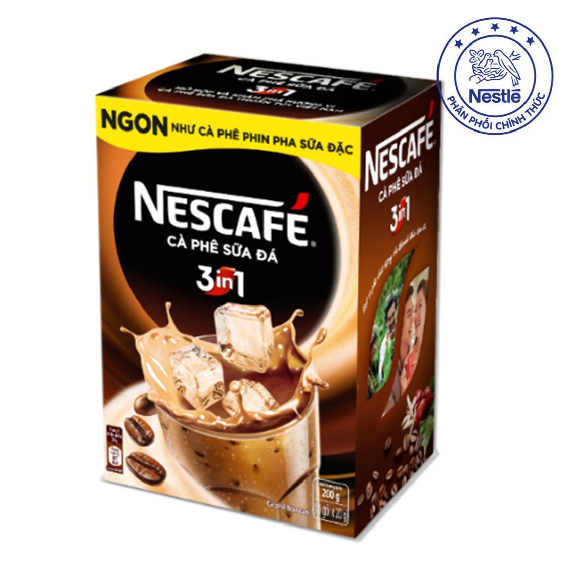 NESCAFÉ Cà Phê Sữa Đá 3 trong 1 ( Hộp 10 gói x 20g)