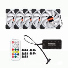 Bộ 5 quạt làm mát Coolmoon Dual Ring Fan Led RGB 12cm kèm điều khiển Cực Rẻ Tại Smartbuys