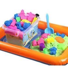 Bộ đồ chơi khuôn tạo hình khối cát động lực vi sinh an toàn cho bé