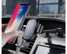 Đế sạc không dây (Wireless) trên oto, xe hơi nổi tiếng Baseus (Chuẩn QI) Sạc nhanh Vô đối (Ngàm Kẹp)