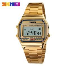 Đồng hồ nữ chống nước kiểu dáng hot dây thép không gỉ cao cấp Skmei DA1123