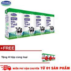 Thùng 48 hộp sữa tươi Vinamilk 100% có đường 110ml + Tặng 1 lốc cùng loại