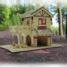 Đồ chơi lắp ráp gỗ 3D Mô hình Nhà gỗ Ming Xuan Cha Lou – Mô hình Nhà gỗ | Đồ chơi gỗ | Đồ chơi lắp ráp | Nhà tăm | Đồ chơi giáo dục | Đồ chơi thông minh | Thế giới đồ chơi