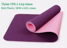 Thảm Tập Yoga TPE 2 Lớp 6mm + Túi Đựng _ Hàng chất lượng