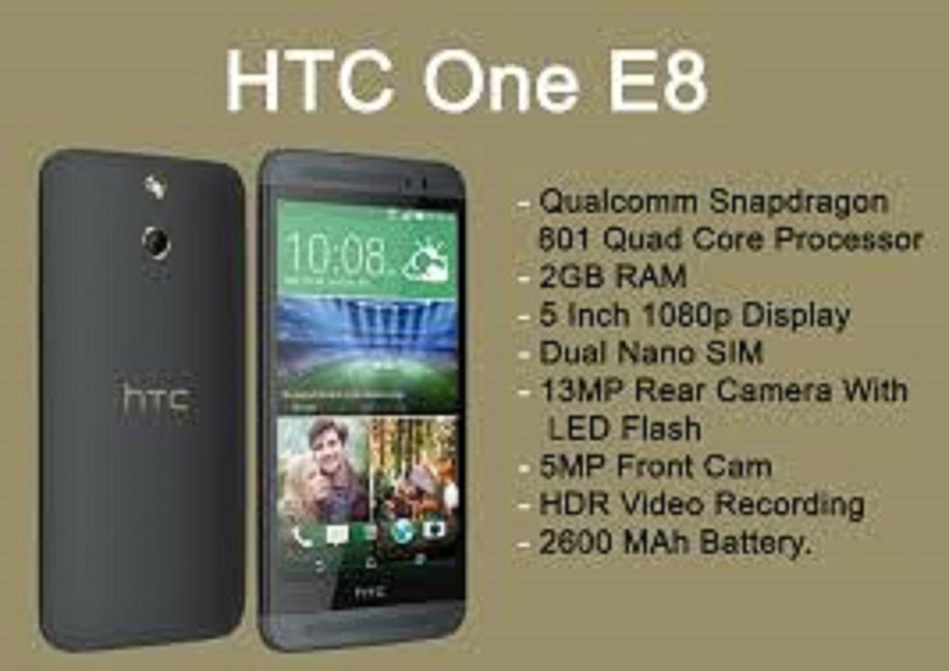 HTC E8 1sim (màu trắng) – Hàng nhập khẩu