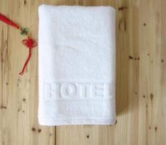 Khăn Tắm Khách Sạn 70*1m4*500 gram có dệt logo, hàng xuất dư khách sạn, khăn 100% cotton