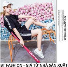 Đồ Bộ Áo Thun Nữ + Quần Đùi Sọt Thun Nữ Thể Thao, Ở Nhà, Đồ Ngủ Thời Trang Hàn Quốc Mới – BT Fashion (SO03A-3S)