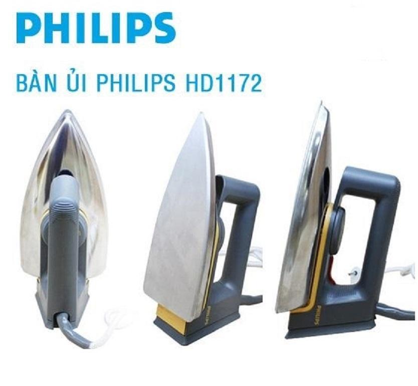 Bàn ủi Philips HD1172 ( Xám bạc Indonesia )