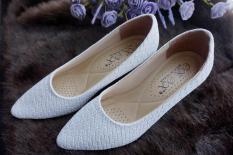 Giày công sở Đài Loan siêu êm 509A- màu trắng