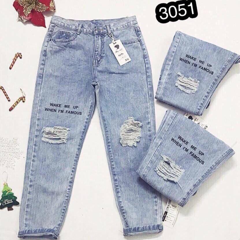 Quần Jeans Nữ Dạng Baggy Cao Cấp OHS3051