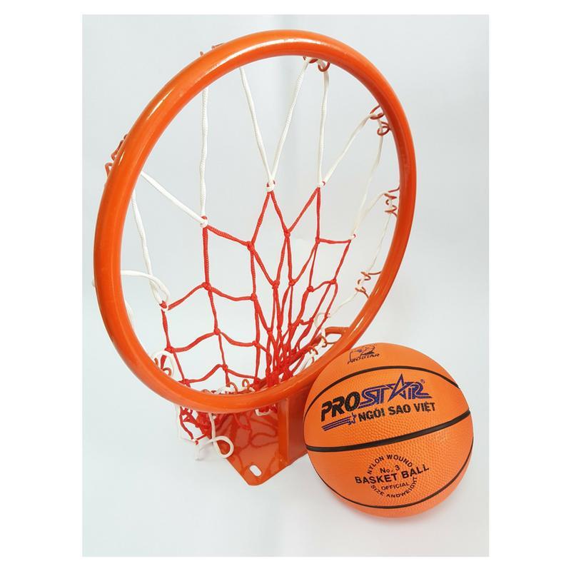 Combo bộ Vành bóng rổ 35cm + Bóng rổ Prostar số 3 ĐỒ TẬP TỐT