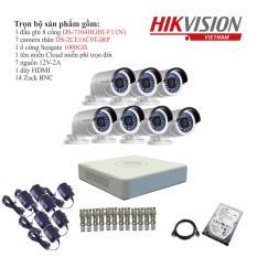 Trọn bộ 7 camera quan sát HIKVISION TVI 1 Megapixel DS-2CE16C0T-IRP chuẩn 720HD