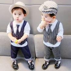 Bộ quần áo cho bé trai kiểu dáng công tử đáng yêu và lịch lãm. (Cho bé từ 9 tháng- 5 tuổi)